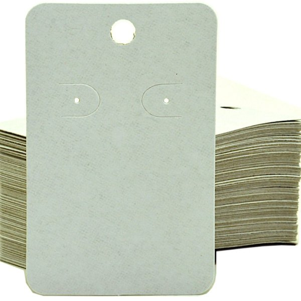 Cartela Para 1 Par De Brincos  - 4,5 x 7 Cm - C41B Branca Fosca