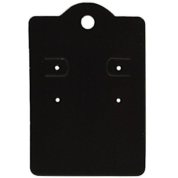 Cartela Capela para 2 Pares de Brincos - 5,5 x 8 cm - C190 Preto