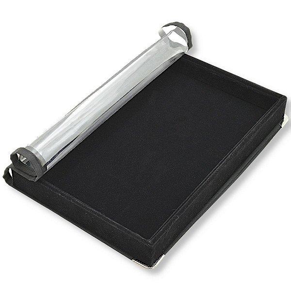 Bandeja Media Lisa 30 x 20 x 3 cm - Veludo com capa