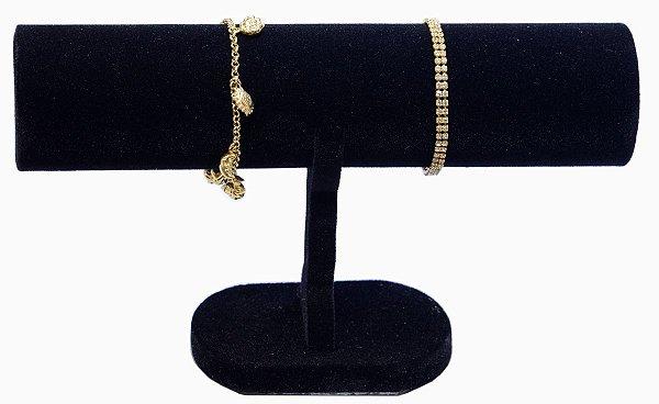 Expositor Para Pulseira Bracelete Relógios 14 X 23 cm - E1 Simples - Veludo  Preto