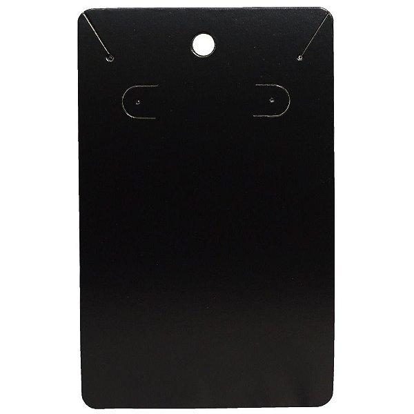 Cartela Para Brinco e Corrente - Conjunto - 7,5 X 12 cm - C34 Preto