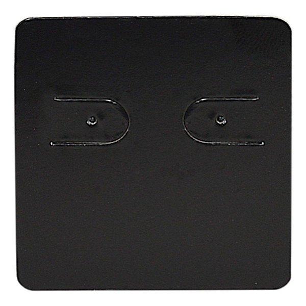 Cartela Para 1 Par de Brincos - 3,9 x 4,4 cm - C60 Preta