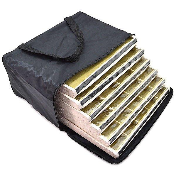 Bolsa com 6 Bandejas Grandes para Joias  com capa - Bege