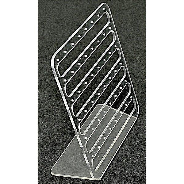 Expositor Acrílico Para Brinco Vazado - 48 Furos  A06 M - Cristal Incolor