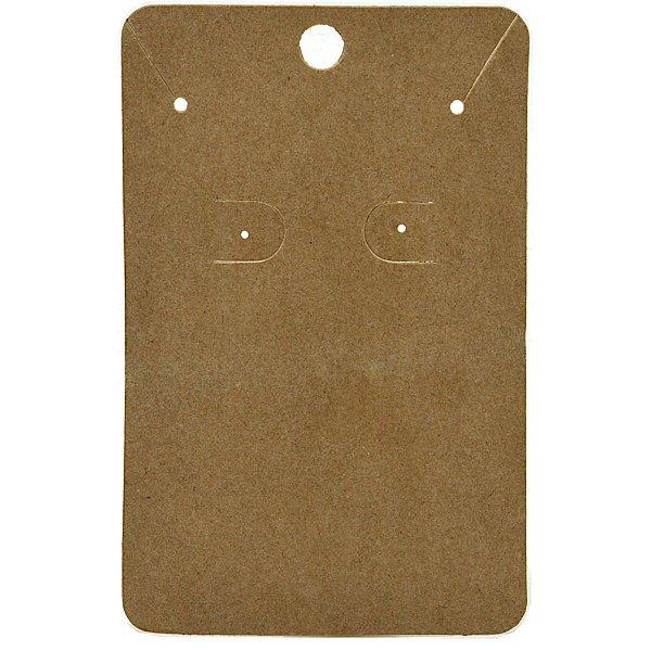 Cartela Para Brinco e Corrente  - 6,5 X 10 cm - C40 Kraft