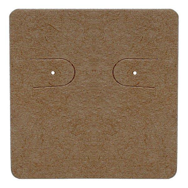 Cartela Para 1 Par de Brincos - 3,9 x 4,4 cm - C60 Kraft