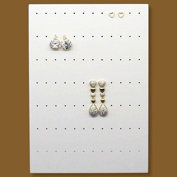 Expositor Brincos 84 Furos - MDF Laqueado Branco
