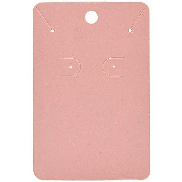 Cartela Para Brinco e Corrente  - 6,5 X 10 cm - C40 Rosa