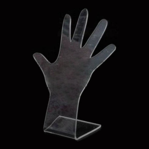 Expositor Acrílico Para Anel Formato de Mão - Cristal Incolor