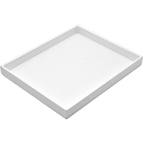 Bandeja Grande Lisa 36,5 x 29,5 x 3,3 cm - Corino Branco sem capa