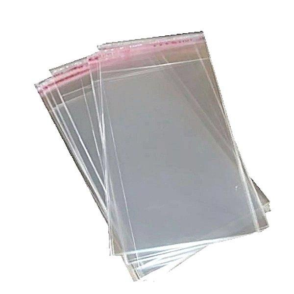 Saquinho Plástico Adesivado - 10X17 - 100 Unidades