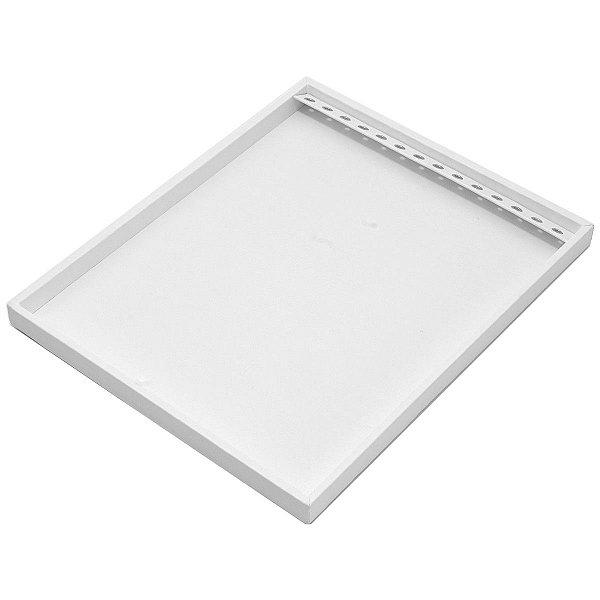 Bandeja Grande Correntes com Ilhós 39,5 x 29,5 x 2,3 cm - Sem Capa Corino Branco