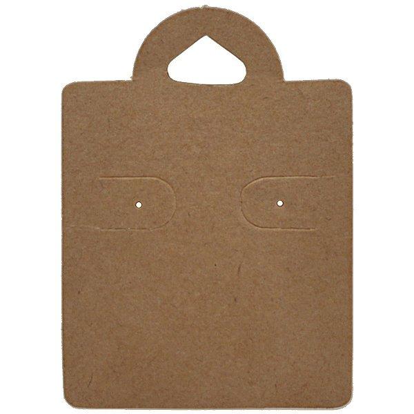 Cartela Capelinha para 1 Par de Brincos - 4 x 5,5 cm - C38 Kraft