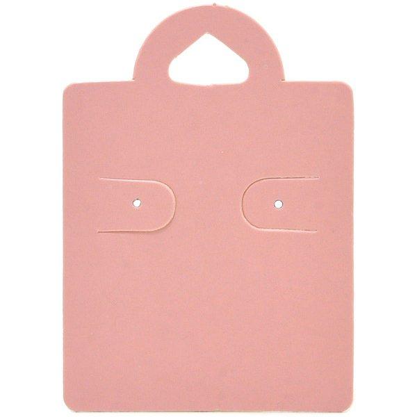Cartela Capelinha para 1 Par de Brincos - 4 x 5,5 cm - C38 Rosa