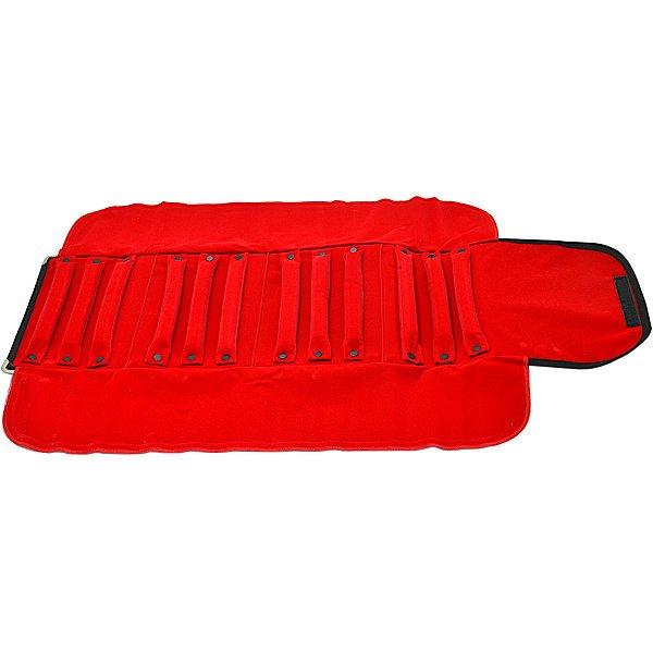 Mostruário Grande 83 x 52 cm Para Anéis 12 Rolinhos - Vermelho