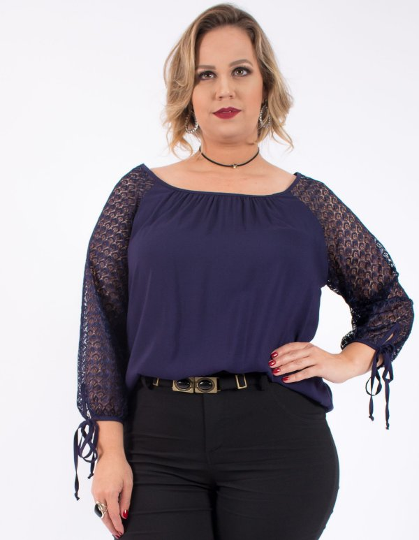 BLUSA PLUS SIZE CROCHE