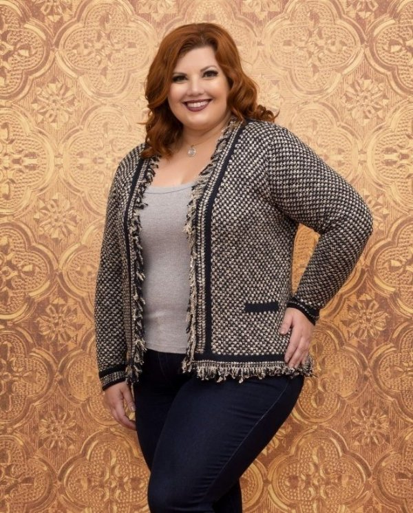 CASACO PLUS SIZE FLAME LONDRES