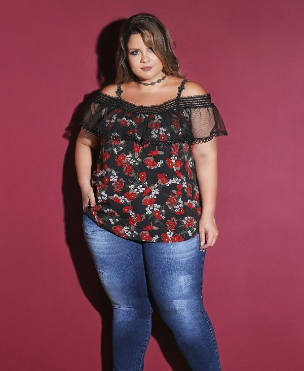 BLUSA PLUS SIZE FRIDA
