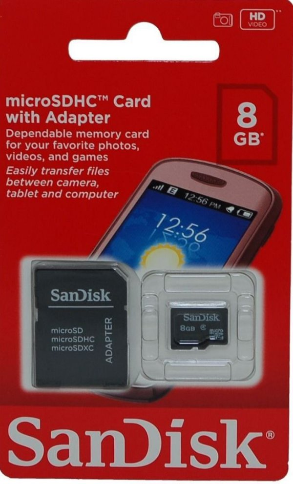 Cartão de Memória Micro SD San Disk 8GB