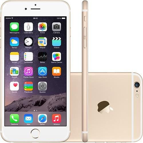 "iPhone 6 16GB Dourado Tela 4.7"" iOS  4G Câmera 8MP - Apple"