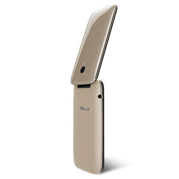 Celular Blu Diva Flex Dual Chip Câmera Flip Dourado