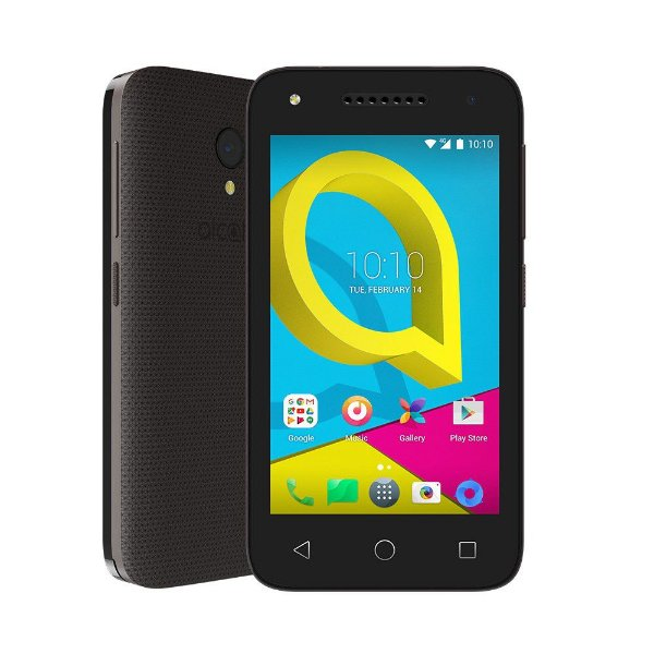 Smartphone Alcatel U3 Preto, DualSIM - Câmera Principal 8MP e Selfie 5MP com Flash
