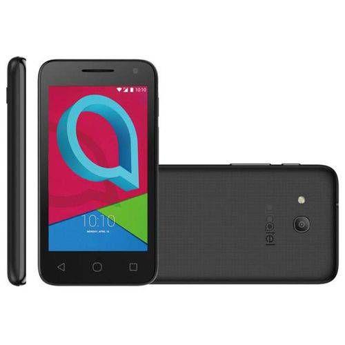 Smartphone Alcatel 4034E Light Pixi 4, Dual chip, 8MP, 4'', 8GB expansível até 32GB, 3G - Preto
