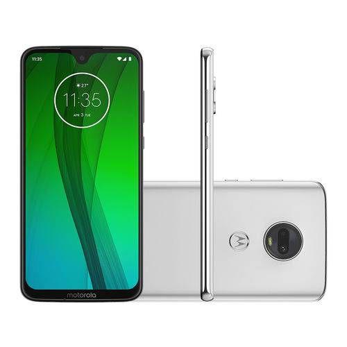 Smartphone Motorola Moto G7 64GB 4GB Tela 6.24'' Full HD 12 + 5MP Dual Cam - Branco
