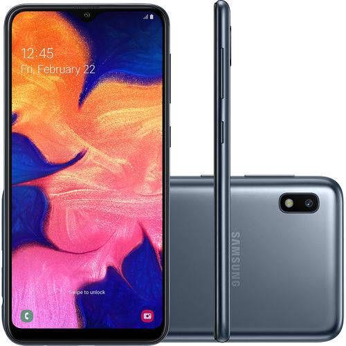 "Smartphone Samsung Galaxy A10 32GB Dual Chip Android 9.0 Tela 6.2"" Octa-Core 4G Preto"
