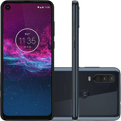 "Smartphone Motorola One Action 128GB Dual Android Pie 9.0 Tela 6.3"" Exynos 9609 (S925) 4G Câmera 12+5+16MP Azul"