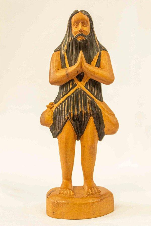 Santo Onofre 20 cm em madeira - Dunga de Alagoas