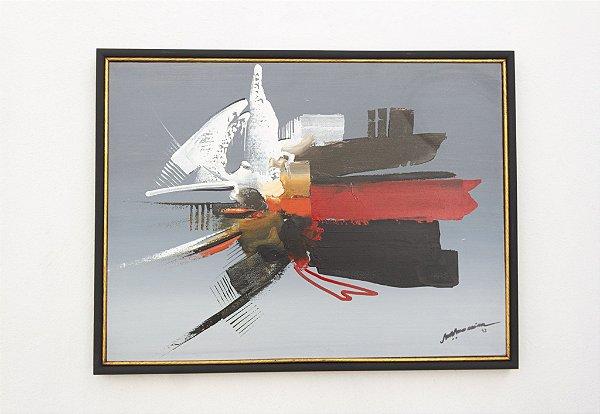 Quadro Abstrato 80 x 60  M. Moreira 1993