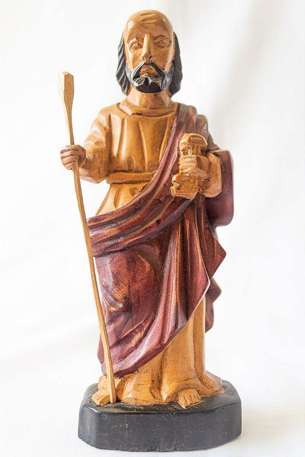 São Pedro 20 cm em madeira  Mestre Dunga │ Alagoas