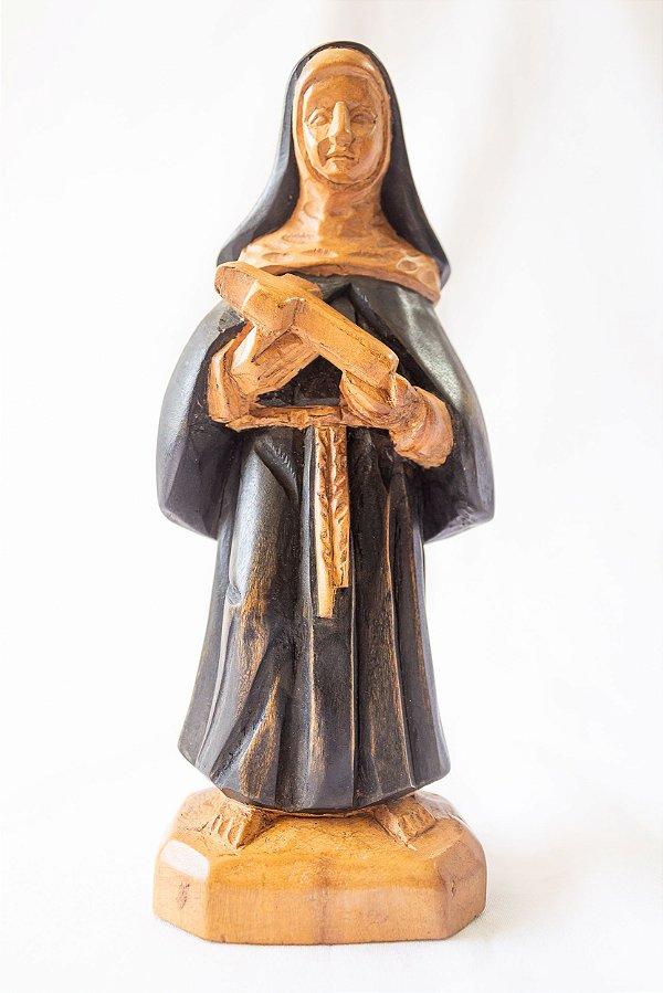 Imagem Santa Rita em madeira 20 cm │Mestre  Dunga │Alagoas