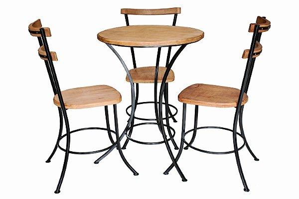 Mesa de Chá com 3 Cadeiras