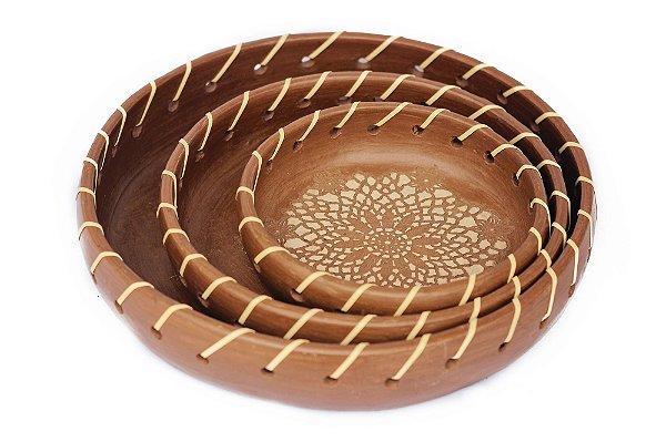 Travessas Cerâmica Rendada