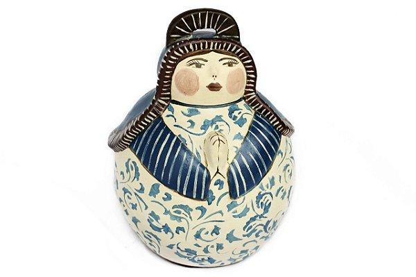 Santa Mini Cerâmica