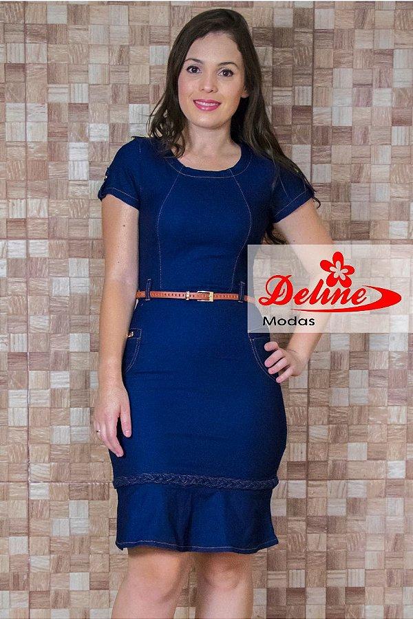 Vestido Jeans Moda Evangelica MN4063