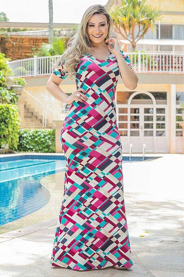 Vestido Longo Moda Evangelica em Malha Forrado Bk4659