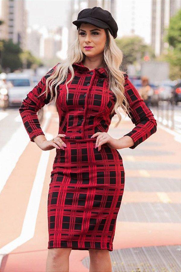 Vestido Xadres Moda Evangelica RS 1443
