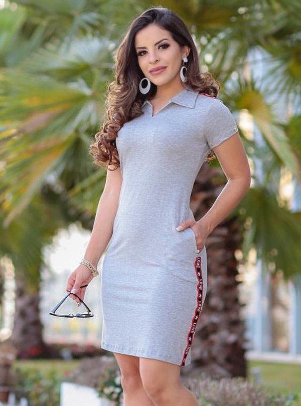 Vestido Esportivo Tubinho Moda Evangelica Love BK 4739