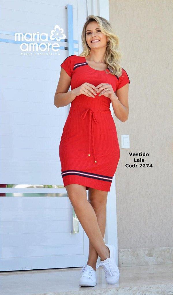 Vestido Tubinho Moda Evangelica Esportivo Maria Amore 2274