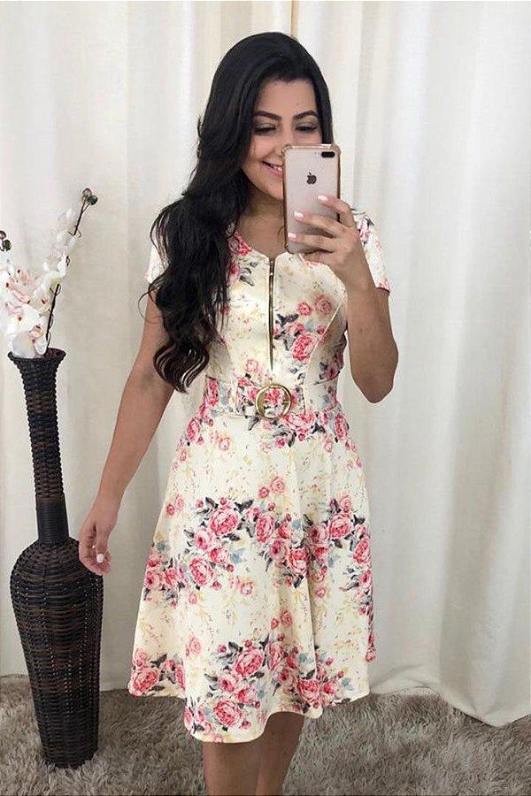 Vestido em Malha Lady Like Moda Evangelica com Cinto KB