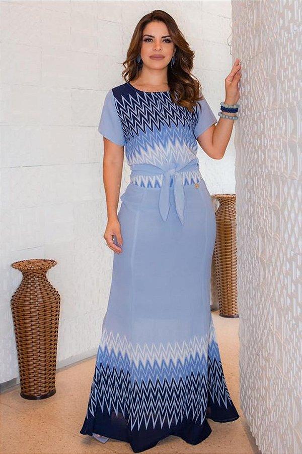 Conjunto Social Moda Evangelica com amarração na cintura Boutique K 0168