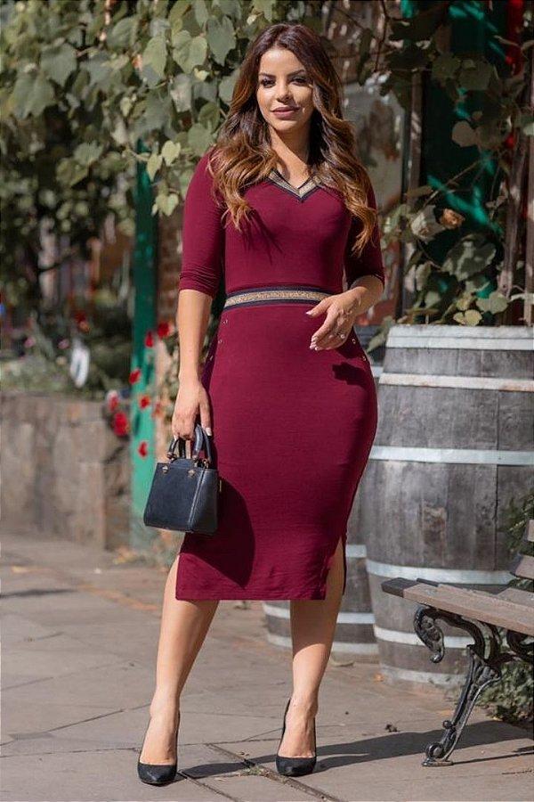 Vestido Midi Moda Evangelica em Viscolycra Boutique K 4837