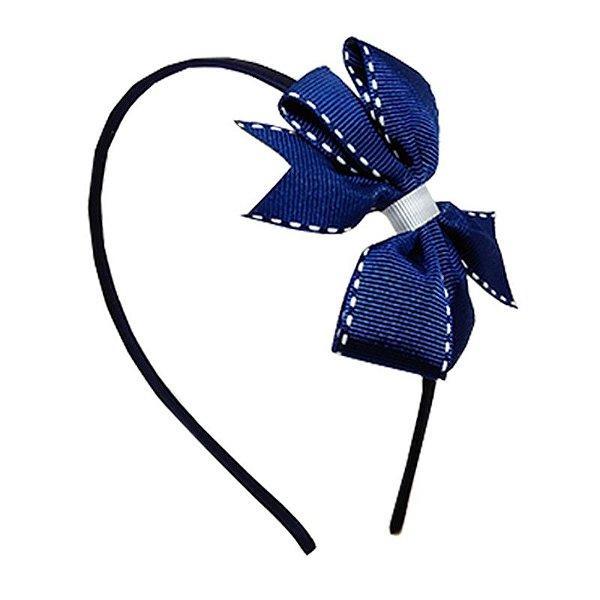 Tiara com Laço Azul Marinho - Londres