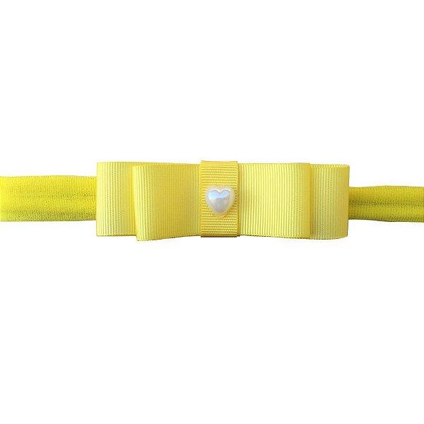 Faixa Laço Chanel Amarela