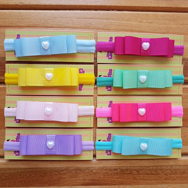 Kit 8 Faixas de Laço para Bebê Chanel - Candy Colors