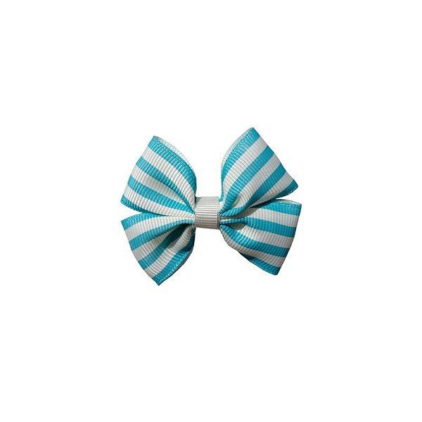 Laço Infantil Pequeno Azul Listrado - P