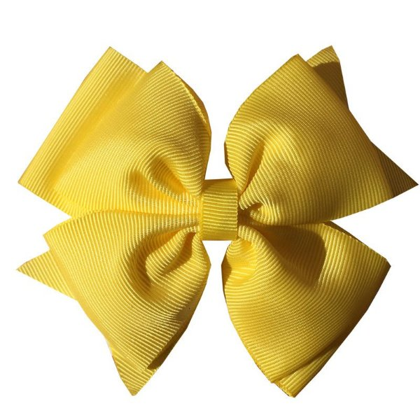Laço Grande Amarelo - Sobreposto